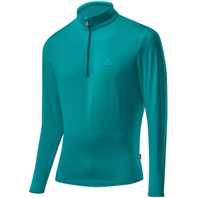 Löffler Basic CF Transtex Sweat-shirt Zip avec col montant Homme, lagoon